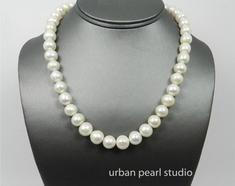 Large Pearl Necklace Big Pearl Choker Necklace Beaded Jumbo Pearls PN355