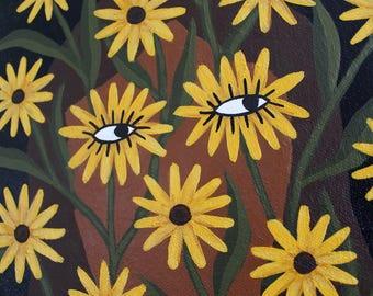 Black Eyed Susan Original Acrylic Painting