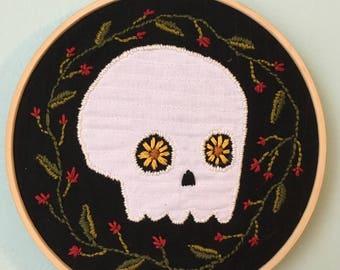 Black Eyed Susan Embroidery Hoop