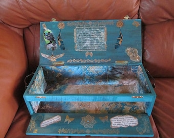 Shaman Medicine Box Custom made for you-with pull-down Alter to take your Alter and Sacred Tools with you. Co-created with Spirit's Guidance