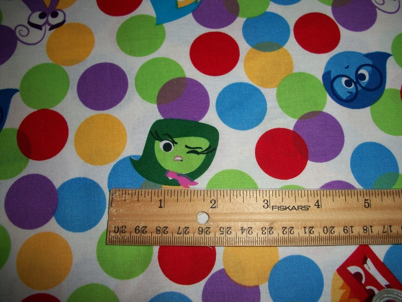 movie Inside Out cotton Emotions Standard or Toddler size pillowcase