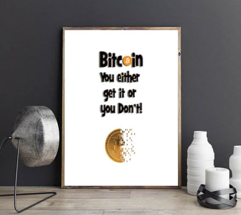 computer geek art cryptocurrency print bitcoin art quote Bitcoin geek art print geek humor