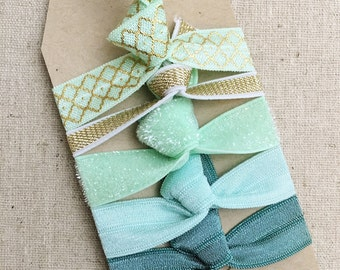 Moroccan Mint - Gift Set of 5 Perfect Hair Ties