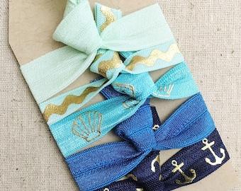 Seaside - Gift Set of 5 Perfect Hair Ties
