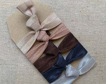 Nude & Navy - Gift Set of 5 Perfect Hair Ties