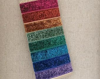 Rainbow Bright Sparkle - Set of 8 Elastic Hair Ties