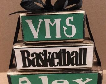 Basketball Wooden Block Set, Team Gift, Coach Gift, Basketball Decor, Office  Decor, Room Decor, Big Sis Gift, Little Sis Gift
