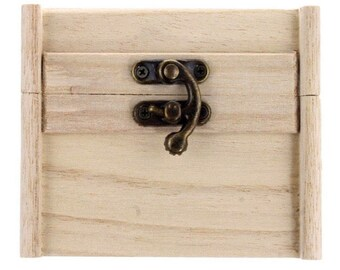 Wooden box with latch, vintage style perfecr for wedding favors and gifts!