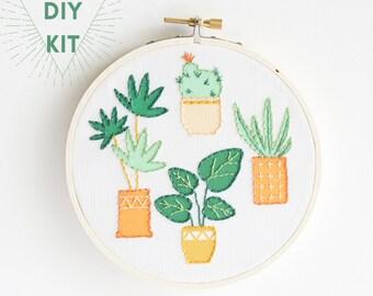 DIY Embroidery Kit |  Modern Plants | Great DIY Gift