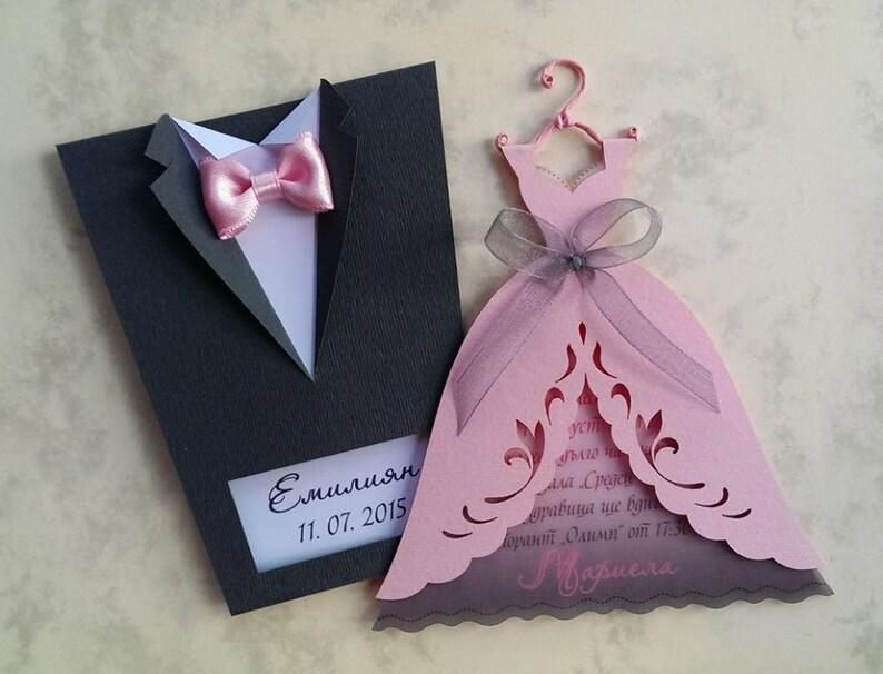 10 Pcs Bridal Wedding Invitations Bride Or Groom Etsy