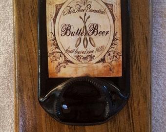 Butterbeer 3   Harry Potter Beer Opener Plaque