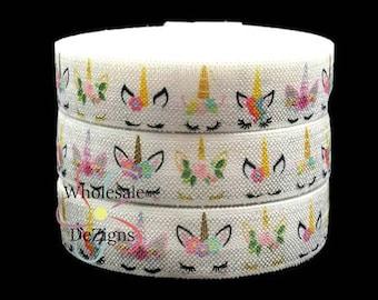 craft supplies foldover elastic printed elastic wholesale elastic, Unicorn foldover Elastic