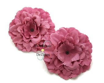 Silk flower heads etsy mauve silk peony flowers 4 inches flower heads 4 diy headband hair clips 2 peonies mightylinksfo