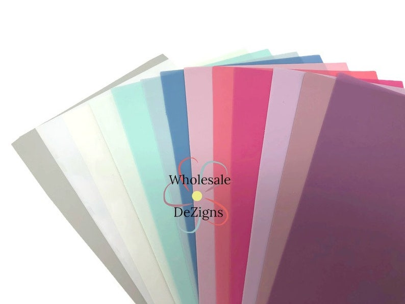 Jelly Sheets Plastic Faux Transparent Leather Sheet Waterproof image 0