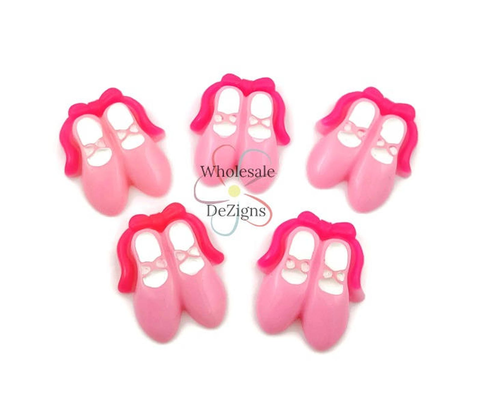 pink ballet slipper resins pink ballerina slippers cabochons light hot pink shoes flat back acrylic diy headband hair bow embell