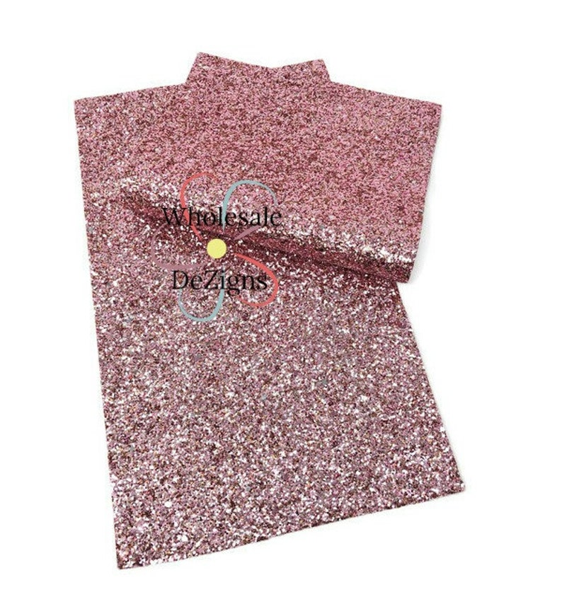 Pink Chunky Glitter Faux Leather Sheet Synthetic Sheets image 0