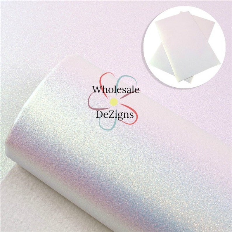 Iridescent Pink Pearl Faux Leather Sheet Synthetic Sheets image 0