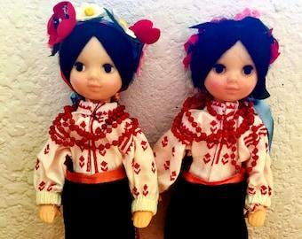 Vintage Soviet Twin Dolls 1983 All Original
