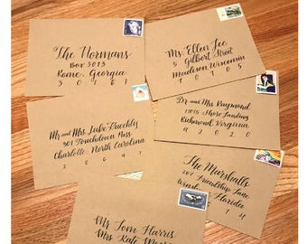 Calligraphie sur mesure pour des Invitations