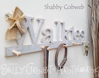 """Leash hanger WALKIES  """"For collars, keys and doggy leads..."""""""