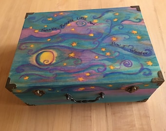Star dust...Hand painted wood box