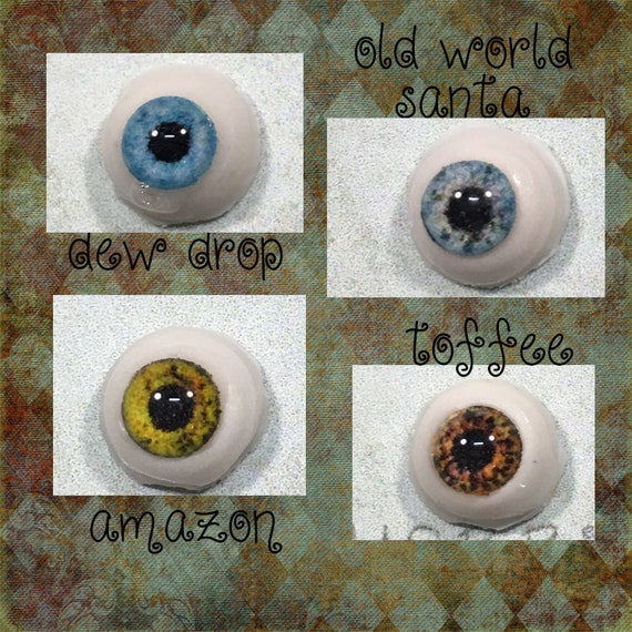 6mm Brown Glass Eyes Outfit 1 Pair