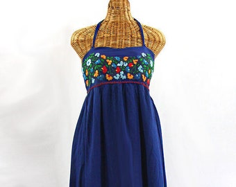 Maxi Dress Embroidered Peasant Dress Hand Embroidered Summer Dress Fully  Lined