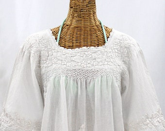 5b74d8d9465237 Embroidered Peasant Blouse: