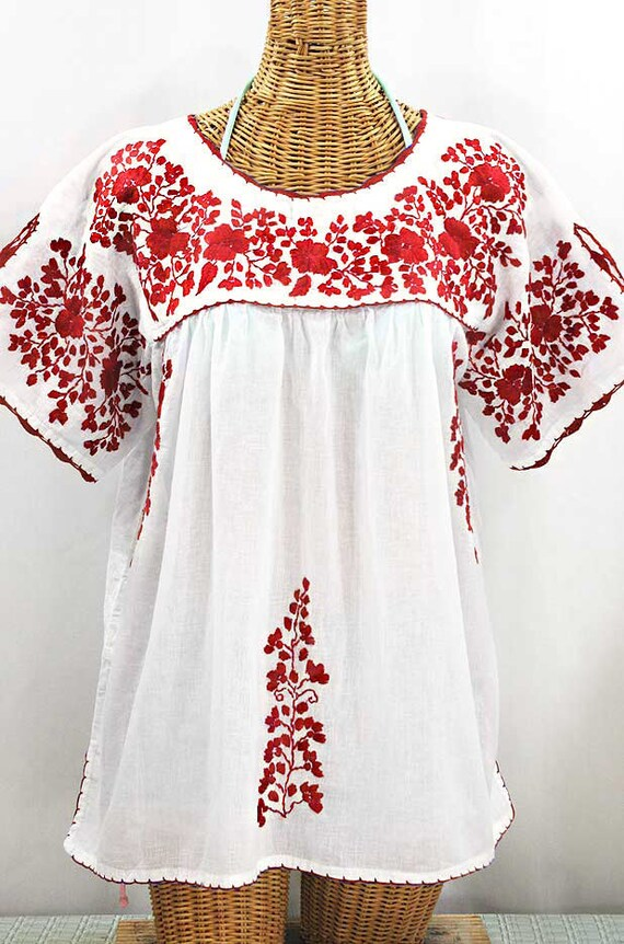 Embroidered Mexican Blouse XXL: Lijera Libre by | Etsy