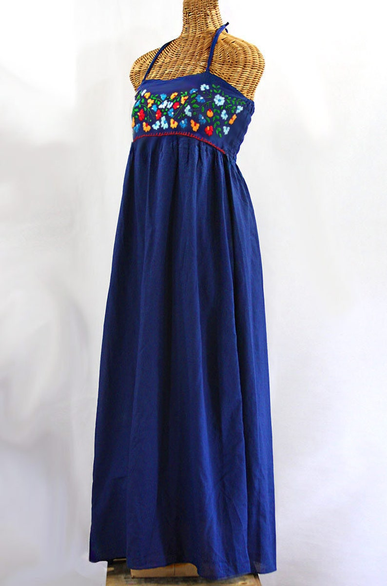 Maxi Dress Embroidered Peasant Dress Hand Embroidered Summer  841c6a8d6