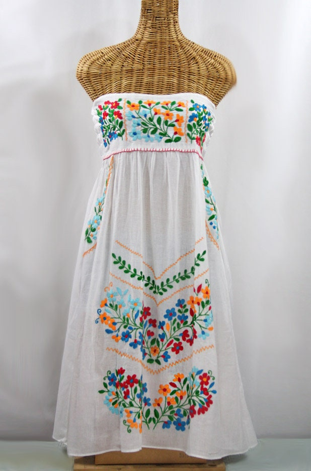 f83ef548ee Embroidered Peasant Dress Hand Embroidered Sundress  La