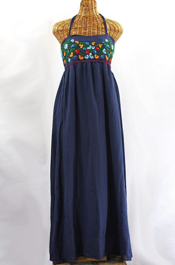 Maxi Dress Embroidered Peasant Dress Hand Embroidered Summer Dress Fully Lined: