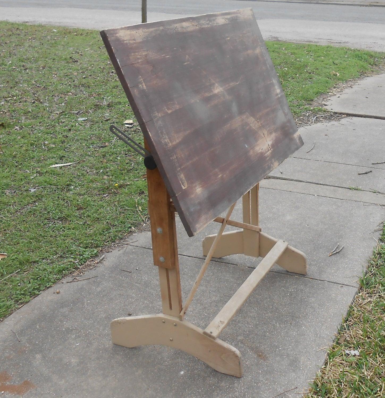 Antik Tisch massiv Holz einstellbare Winkel Tisch | Etsy