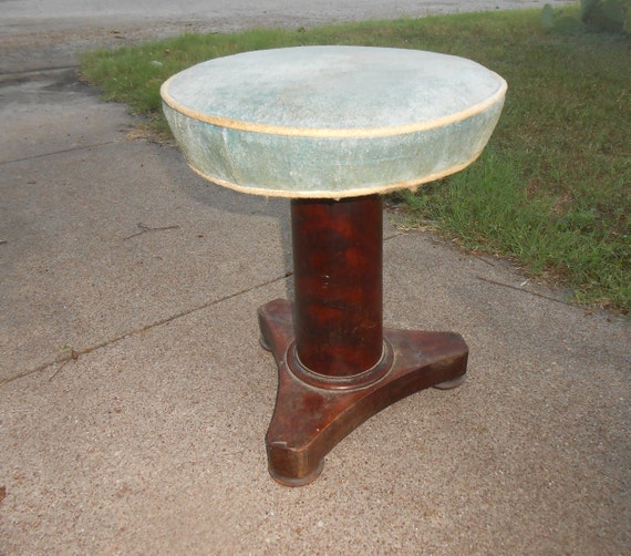 Antiques Antique Mahogany Stool
