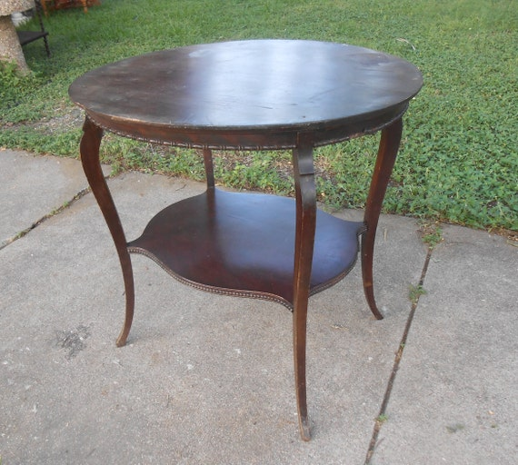 Jahrgang Oval Seite Tabelle Zierliche Queen Anne Legs Mahagoni Etsy