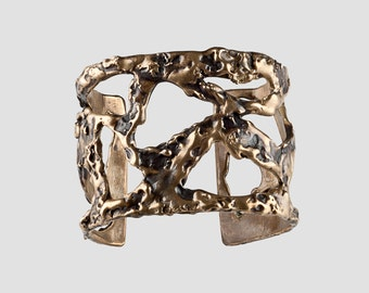 Organic Brass Cutout Cuff
