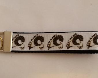 Handcrafted NCAA Virginia Commonwealth University VCU Rams Key Chain Wristlet
