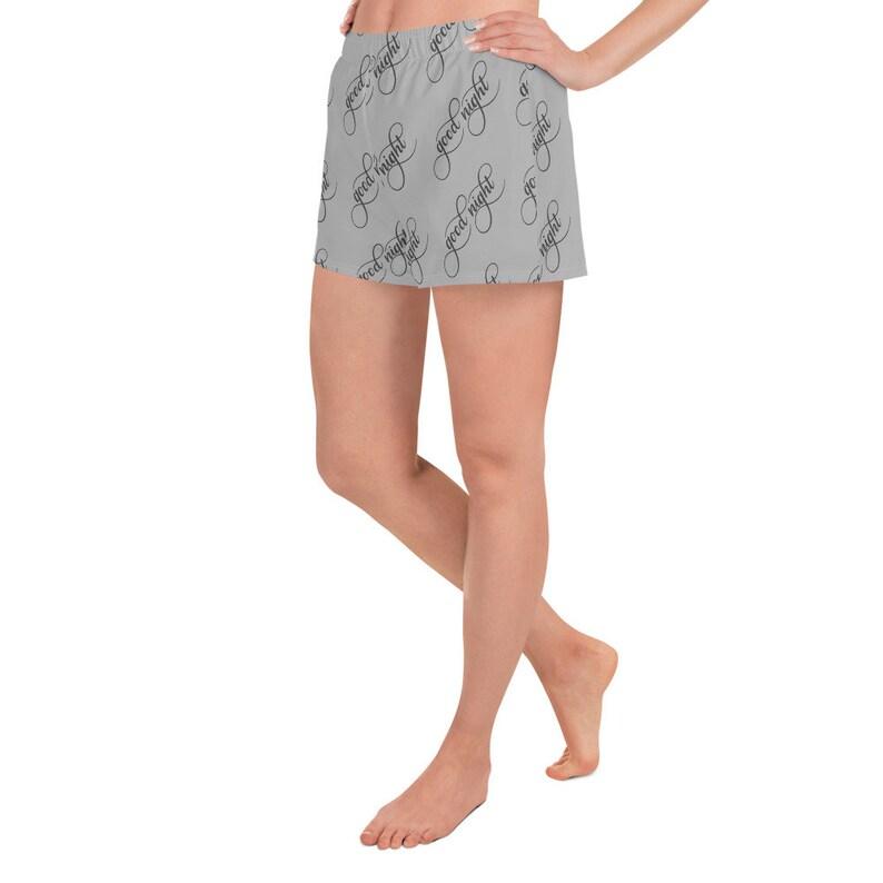 Good Night Athlethic Shorts Shorts for Women Pajama Shorts for Women Shorts Casual Shorts Quote Shorts