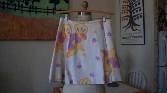 Vintage 1960s Mini Skirt / 1960s Mod Skirt 1960s G