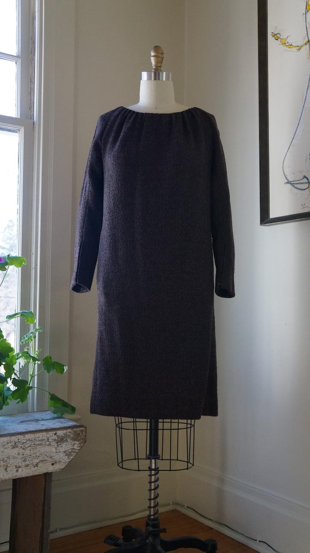 b0d181096015 Vintage 1960s Pauline Trigere Dress / Homespun Tweed / Button | Etsy
