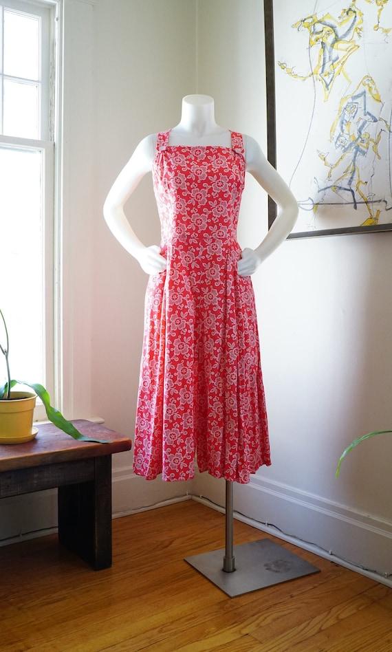Vintage 1950s Jumpsuit / 1950s Sundress / Styled b