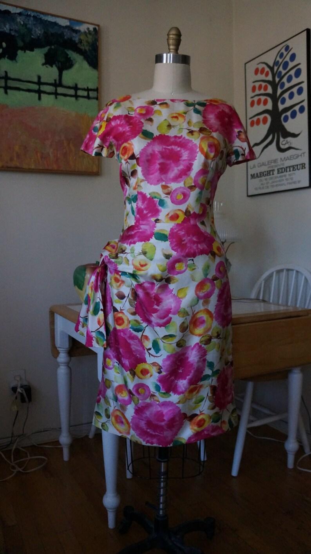 f2a7e2e61dfb68 Vintage 1950s Pattullo-Jo Copeland Dress / 1950s Silk Dress   Etsy