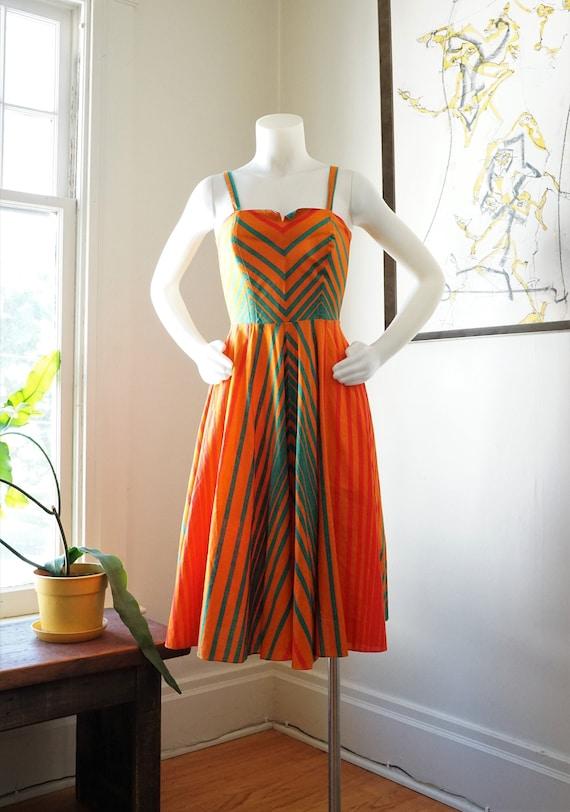 Vintage 1970s Fenno Sport Dress / 1970s Sundress M