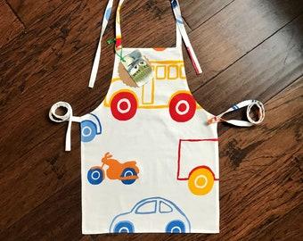 kids car apron, toddler apron