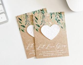 DIY Rustic Spread Love Seed Packet Wedding Favor \u2013 Kraft White Ink Favor\u2013 Personalized Seed Envelope Favors \u2013 Many Colors Available