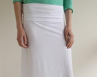 7d4a14c38a Long white skirt   Etsy