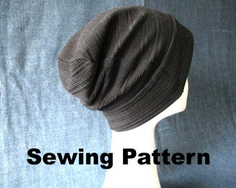 summer slouchy jersey beanie sewing pattern pdf 1254764974a