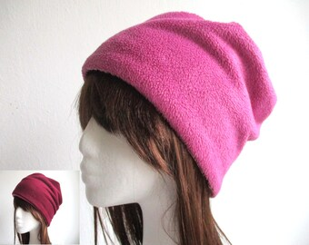 9491ad0e0f1 Lined fleece beanie sewing pattern pdf soft cuff hat winter