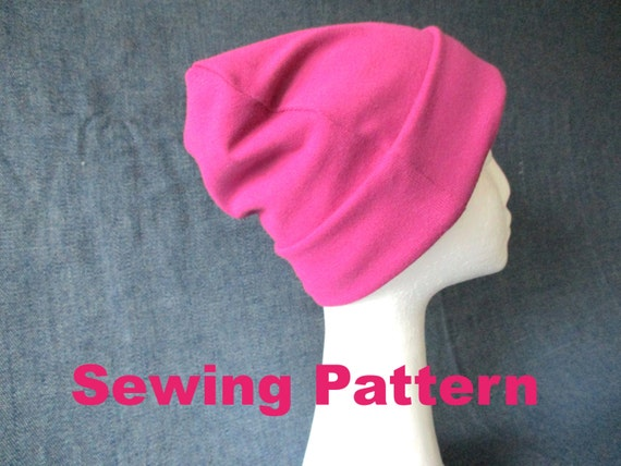 642f6806704 winter jersey beanie hat sewing pattern pdf lined slouchy