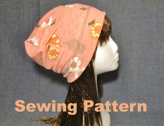 cotton jersey beanie hat sewing pattern pdf single layer